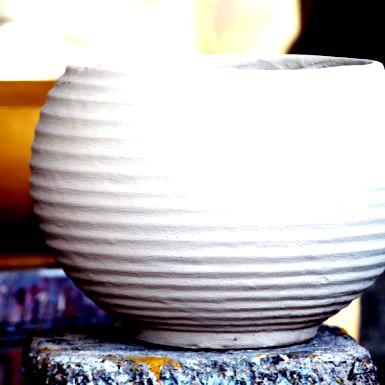 Vasos de cimento e fibra de vidro