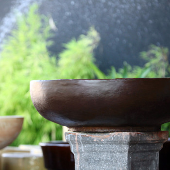 Vasos de cimento e fibra de vidro20